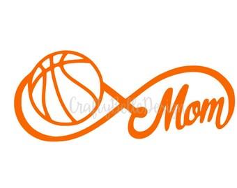 Basketball Mom Decal | Basketball Decal | Mom Decal | Car Decal | Sports Decal | Basketball Car Decal | MacBook Decal | Tumbler Decal
