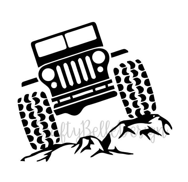 Jeep On Rocks Decal Jeep And Rocks Decal Jeep Car Decal