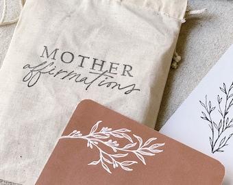 Positive Affirmation Cards for Moms | Motherhood Positive Affirmation Cards | Women Affirmation Cards | Women Empowerment