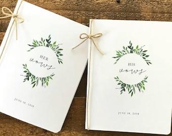 wedding vows etsy