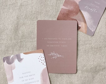 Natural Birth Affirmation Cards | Birth Affirmations | Natural Birth | Birth Affirm Cards | Pregnancy Prayers | Expectant Mom Gift