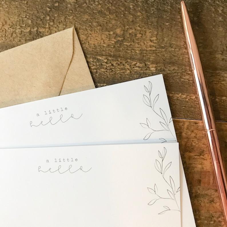 Flat Notecards Set of 10 Stationery Set