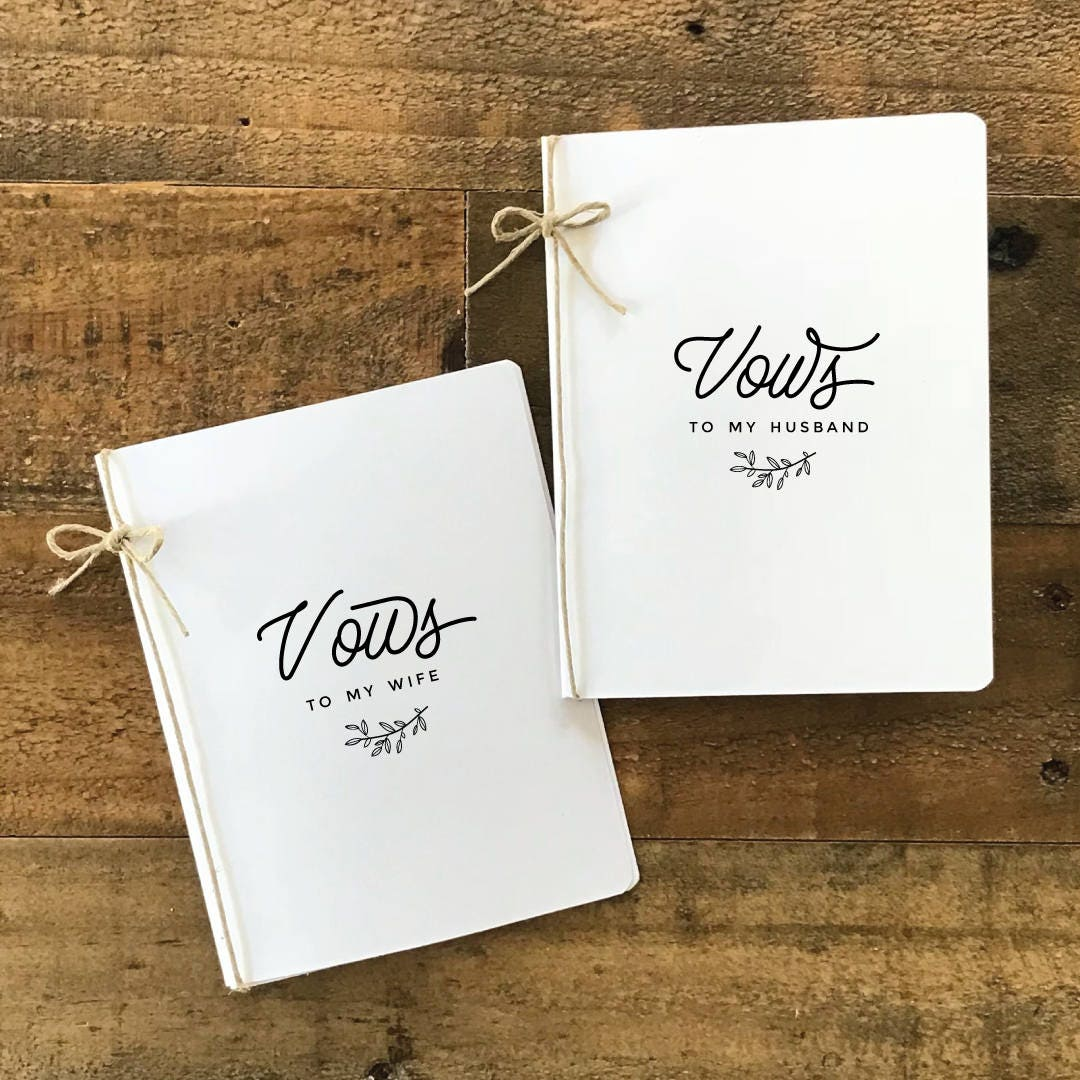 Wedding Vow Ideas For Groom: Wedding Vow Books Bride And Groom Vows Set Of Vow Books