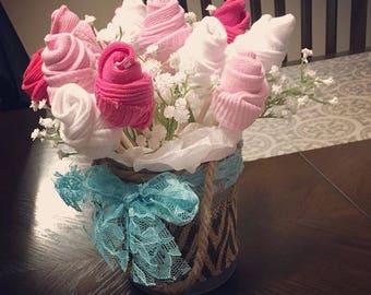 Baby sock bouquet etsy more colors welcome baby gift baby sock bouquet negle Images
