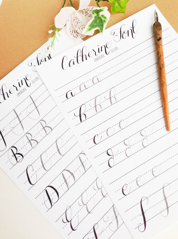 Modern Calligraphy Practice Worksheets Lowercase and   Etsy