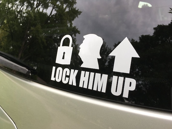 Lock Him Up Anti Trump Rub On Decals Set Of Two Etsy