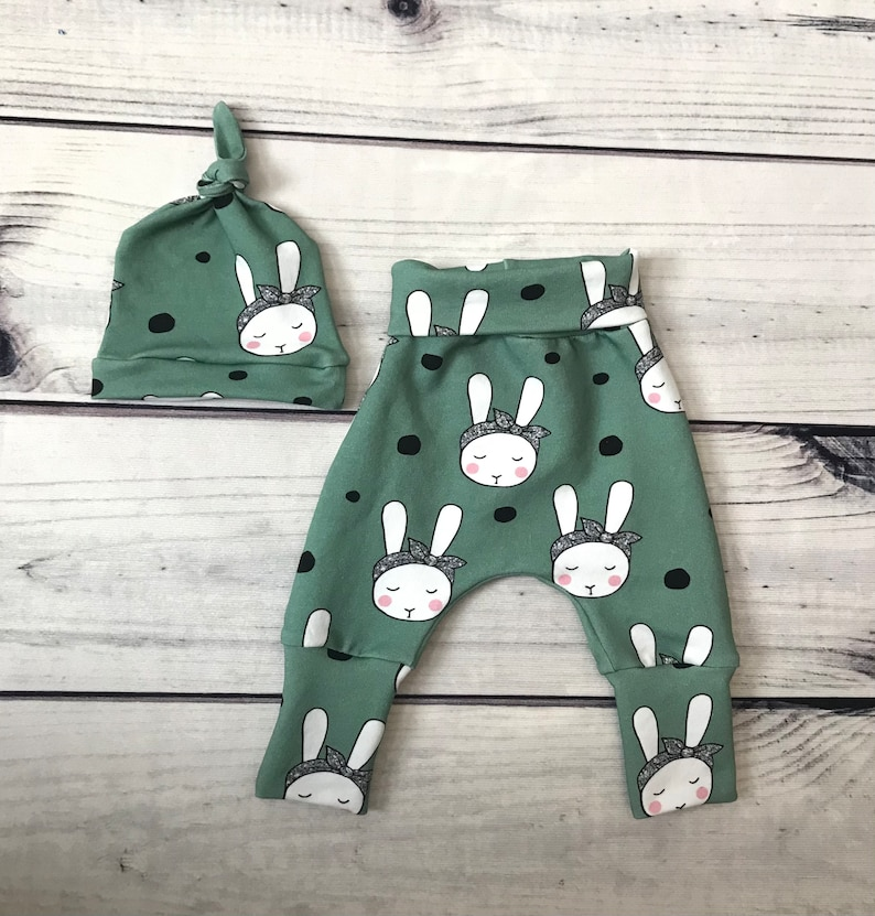 Bunny Grow With Me Pants Easter Bunny Outfit for Baby Easter Baby Onesie Canada Baby Easter Set First Easter Outfit for Girl