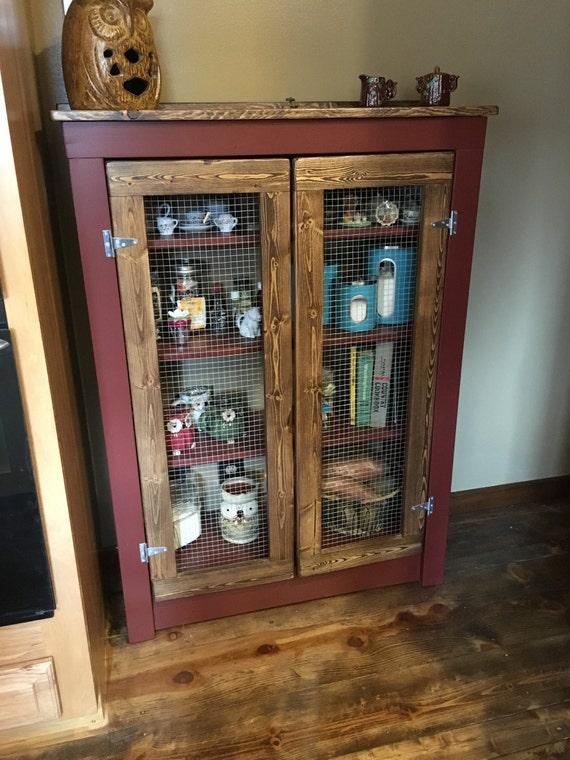Rustic Farmhouse Primitive Jelly Cabinet Pie Safe   Etsy