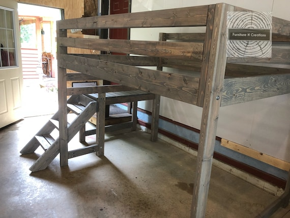 Full Size Loft Bed With Stairs Payment Plan See Description Custom Furniture Kids Adult Teen