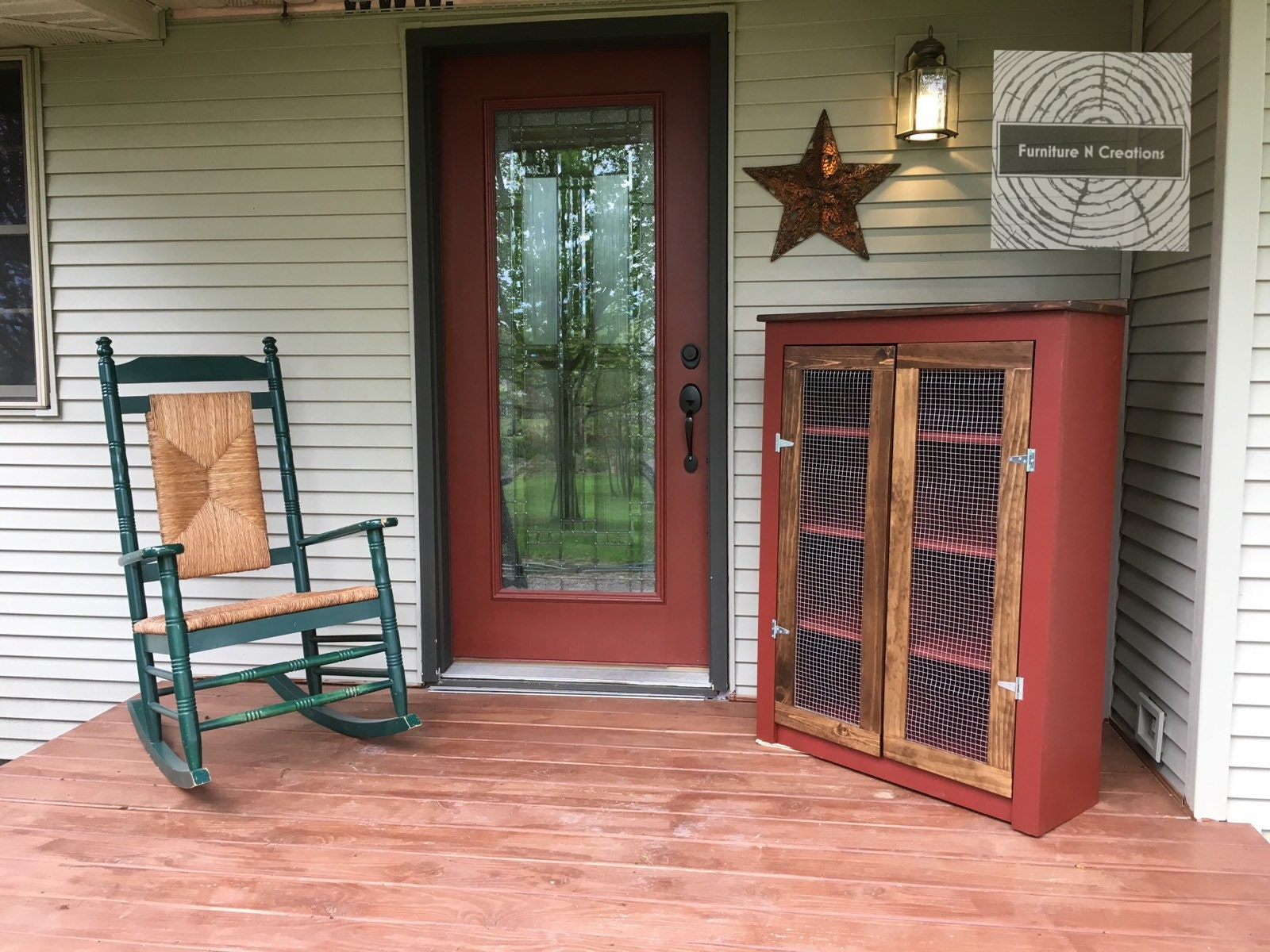 Rustic Farmhouse Primitive Jelly Cabinet   Pie Safe   Kitchen Cabinet    Wire Doors   Cupboard   Custom   Coffee Station   Bakers Cabinet