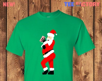 de93de4c Sexy Santa Selfie Funny Kardashian Christmas T-shirt Tshirt Tee Shirt Gift  • Hilarious XMAS Gift Gram Claus Booty Kim K Bum Rump Milk TF-243