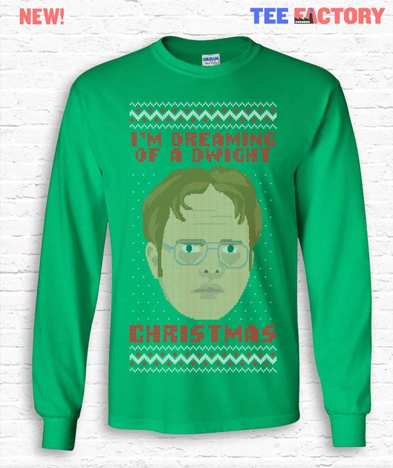 Im Dreaming Of A Dwight Christmas The Office Long Sleeve Etsy