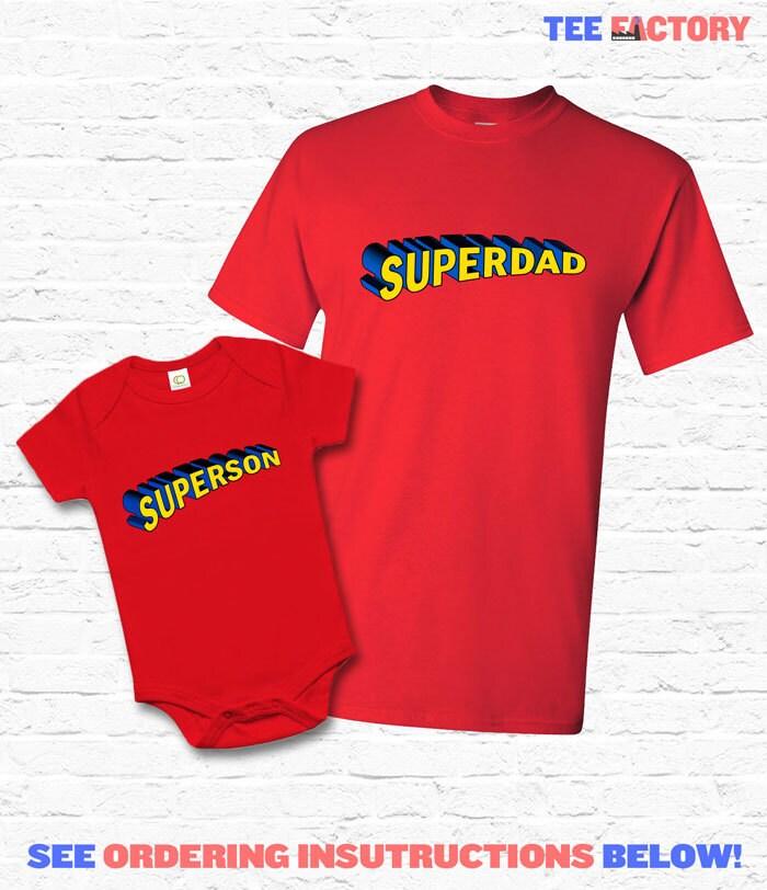 superdad und superson passende vater sohn set t shirt. Black Bedroom Furniture Sets. Home Design Ideas