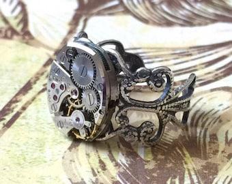 Customized Bulova Watch Movement Ring