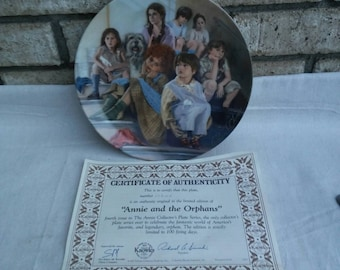 Knowles limited edition Annie collector's plate series