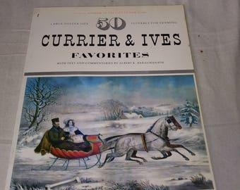 50 currier & Ives poster prints for framing