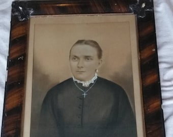 Late 1800s portrait painting of French Nun