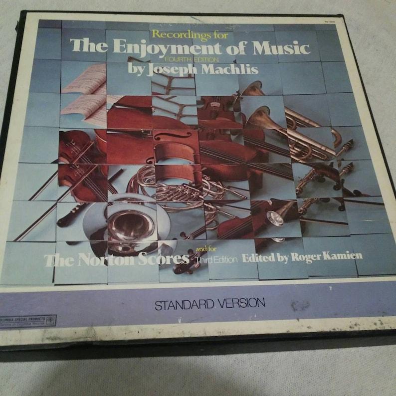 Vintage 9 Vinyl Box Set The Enjoyment Of Music Fourth Edition By Joseph Machlis