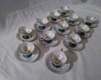1940s Royal Halsey 8 person tea set
