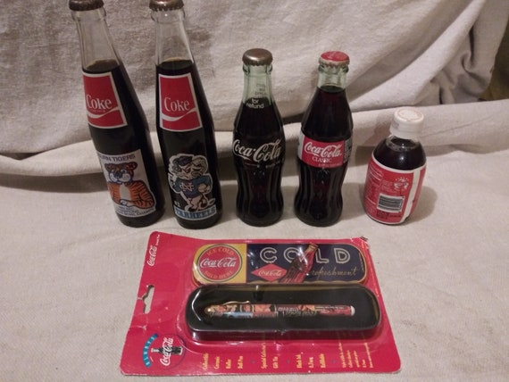 Colección De Botellas De Coca Vintage Y Recuerdos Etsy