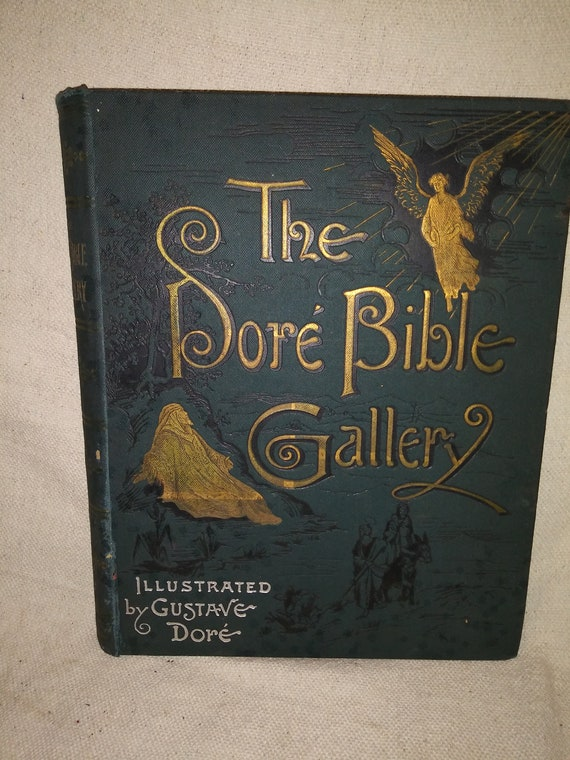 Rare 1888 Copy Of The Dore Bible Gallery With 100 Full Page Etsy
