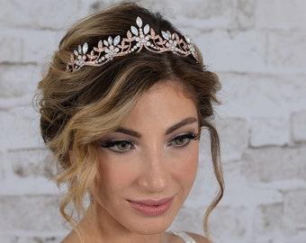 wedding tiara rose gold