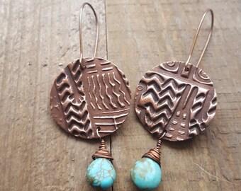 Beautiful Copper Earrings