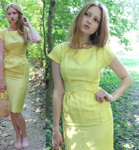 Yellow Roses Pencil Dress