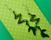 Bamboo Earrings, Plant Earrings, Spiral Bamboo, Gift for Plant Lover, Kawaii Earrings, Garden