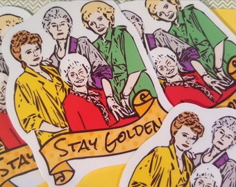 Golden Girls Sticker, Golden Girls Gifts, Cute Stickers, Thank You For Being A Friend, Funny Stickers, Sophia Rose Dorothy Blanche, Fandom