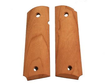 Unfinished Full Size Cherry 1911 Grips