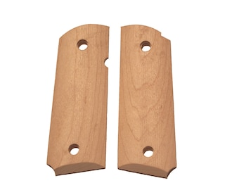 Compact Unfinished Maple 1911 Grips
