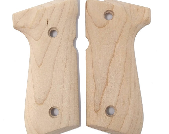 Beretta 92 Unfinished Maple Grips