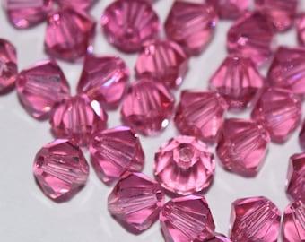 Rose Bicone Swarovski Beads 4mm, 50 Beads, 100 Beads