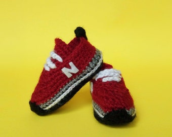 Crochet Baby Sneakers Tutorial (2018) 0-3 months bd8b0a21f