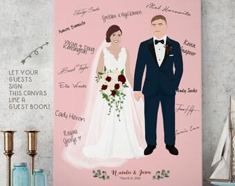 Couple Portrait Guest Book Canvas | Alternative Wedding Guest Book | Sign In Book | Party Guest Book | Guest Sign | Alternative Guest Books