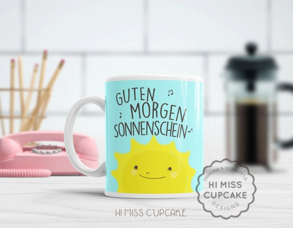 Items Similar To Guten Morgen Sonnenschein Good Morning