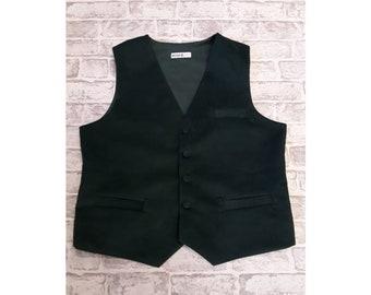 """Men's Waistcoat, Men's Vest, Bottle Green Cord - 42""""-44"""" Chest - With Top Pocket"""