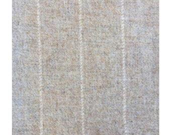 Men's Tweed Waistcoat, Men's Tweed Vest - Made to Order (Natural Stripe, Beige, with Cream Stripe)