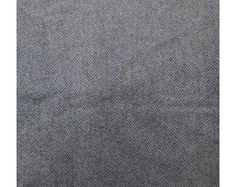 Men's Tweed Waistcoat, Men's Tweed Vest - Made to Order (Blue/Hint of Pink - Herringbone)