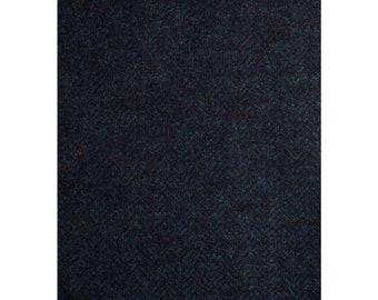 Men's Tweed Waistcoat, Men's Tweed Vest - Made To Order (Midnight & Ocean, Herringbone)