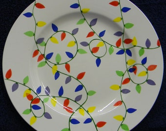 Christmas light plate