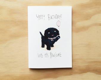 Dog pun card | Etsy