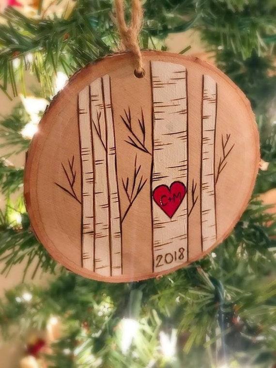 Etsy Christmas Ornaments.Our First Christmas Ornament Personalized Christmas Ornaments Rustic Ornament Christmas Ornament Newlywed Gift Couple Ornament