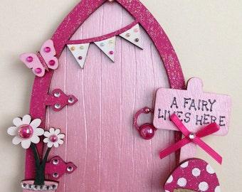 Magical Pink Fairy Door, Fairy Decoration, Flower Fairies Fairy House, Tooth Fairy Door, Magical Door