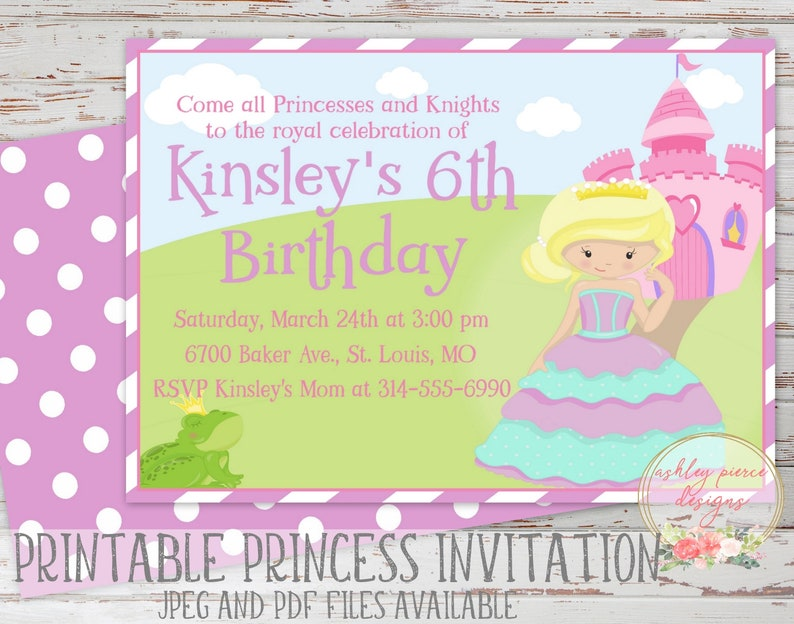 image relating to Printable Princess Invitations called Princess Invitation Printable Princess Birthday Invitation Princess Birthday Bash Princess Bash Invitation Princess Invite History