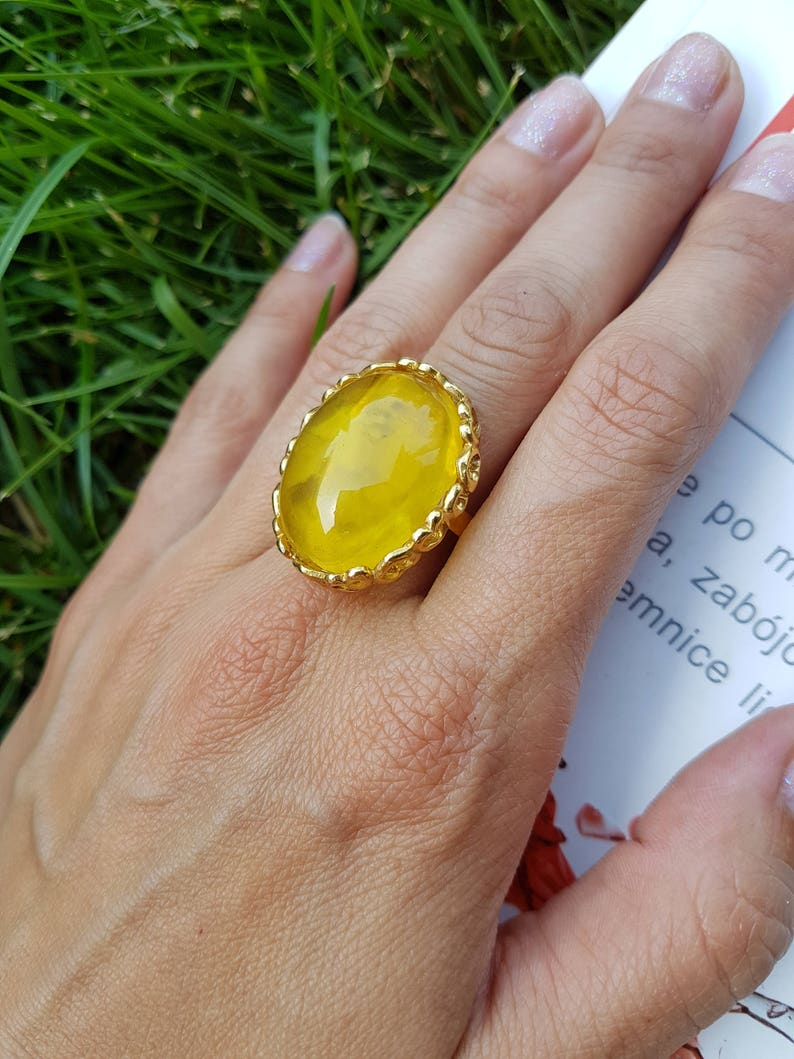 sterling silver Unique color Genuine Amber amber ring Baltic Amber Amazing full orginal