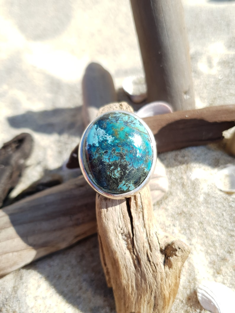 Amazing ring with turquoise elegant and exclusive jewelry image 0