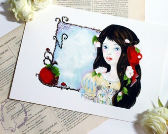 Art - snow - art Print reproduction