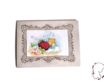 Reproduction framed clutch frame vintage poison - art Print